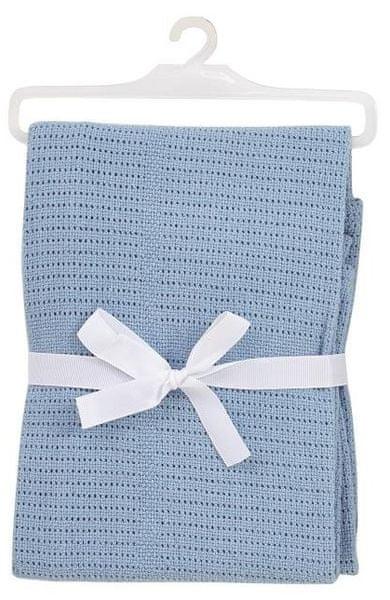 BabyDan Háčkovaná bavlněná deka New, světle modrá