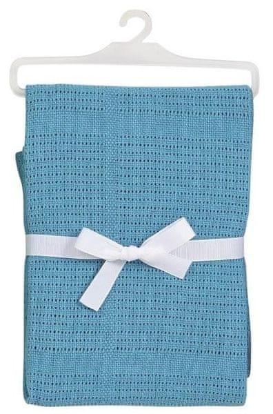 BabyDan Háčkovaná bavlněná deka New, tyrkysová