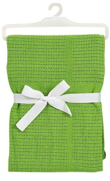 BabyDan Háčkovaná bavlněná deka New, zelená