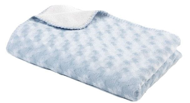 BabyDan Double fleece deka new 75x100 cm, Light Blue