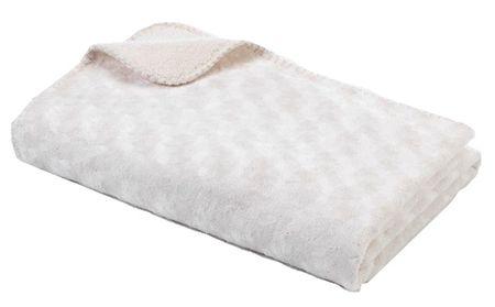 BabyDan Dwustronny koc polarowy 75x100 cm, Off white
