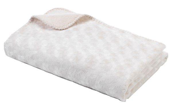 BabyDan Double fleece deka new 75x100 cm, Off white