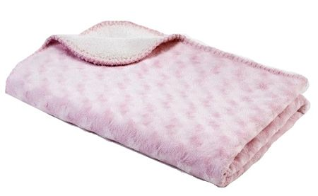 BabyDan Dwustronny koc polarowy 75x100 cm, Pink