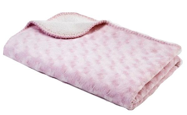 BabyDan Double fleece deka new 75x100 cm, Pink