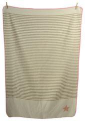 David Fussenegger Deka JUWEL 100×140 cm s výšivkou, Hvězda růžová