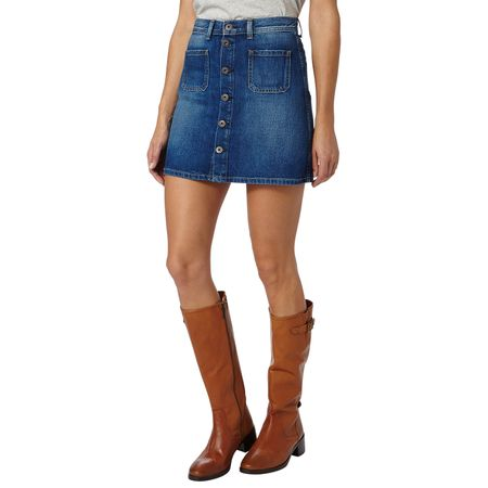 Pepe Jeans dámská sukně Tate M modrá