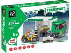 Blocki Klocki Blocki Transport Ciężarówki 253 el.