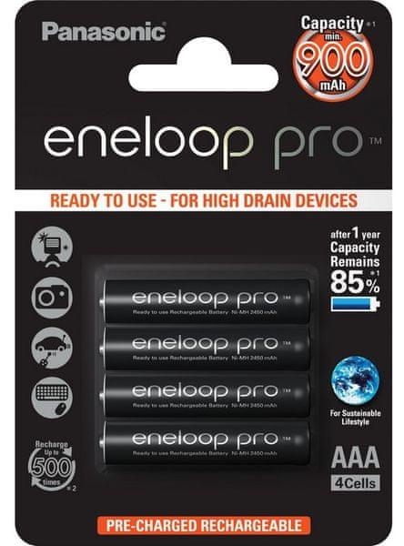 Panasonic AAA 4ks Eneloop Pro 900 mAh (4HCCE/4BE)