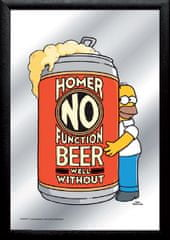 Postershop Zrcadlový obraz Simpsons