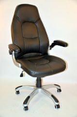 Pisarniški stol K-8332B črni pu