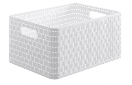 Rotho škatla za shranjevanje Country, 19 l, bela