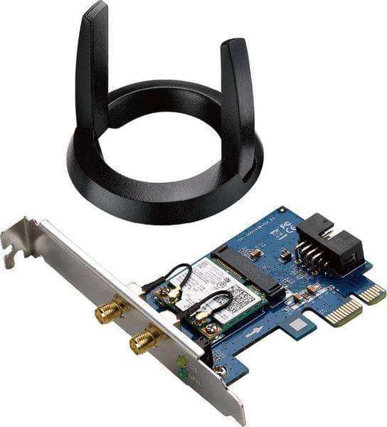 Asus PCE-AC55BT dvoupásmový PCI-E adaptér AC1200 s rozhraním Bluetooth 4.0