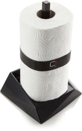 Cuisine držalo za papirnate brisačke Cubix, črno