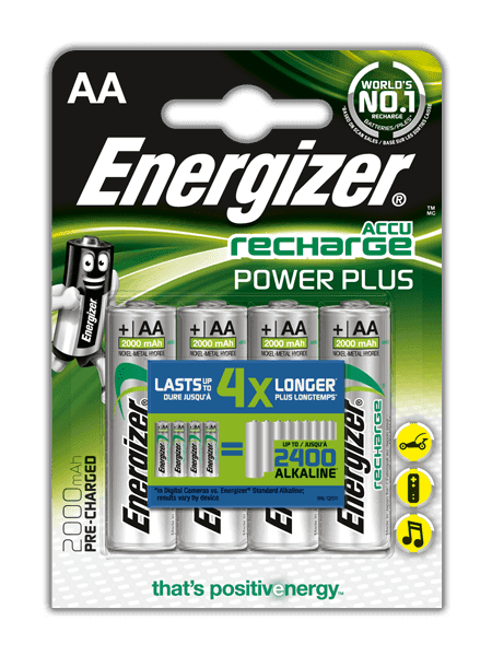 Energizer NiMH Power Plus AA 2000 mAh, 4ks