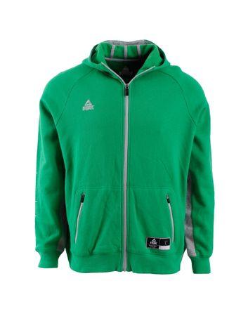 Peak pulover s kapuco F6804, moški, XL, zelen/srebrn