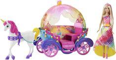 Mattel Princess s konjem in kočijo