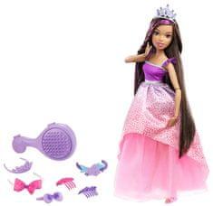 Mattel Długowłosa księżniczka brunetka 43 cm DPK21