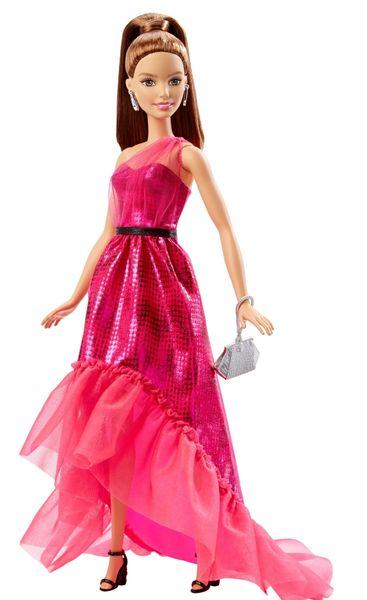 Barbie Večerní šaty bruneta