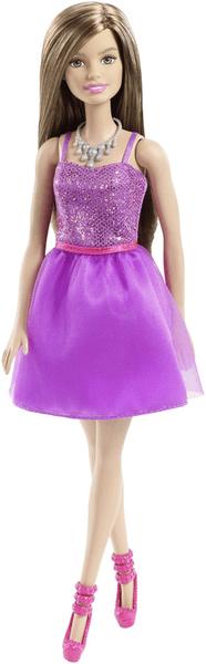 Mattel Barbie Panenka ve třpytivých šatech fialová