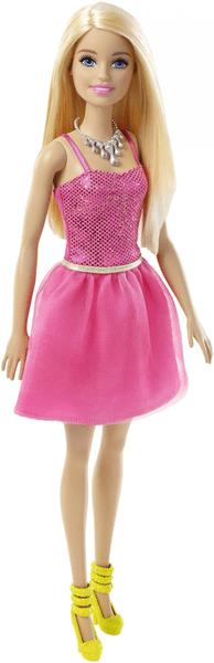Mattel Barbie Panenka ve třpytivých šatech růžová