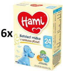Hami 24+ Vanilka 6 x 600g