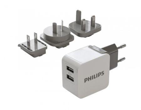 PHILIPS USB adapter cserélhető villával