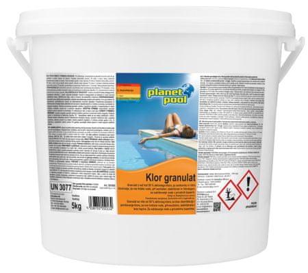 Planet Pool klor granulat, hitrotopen, 5 kg
