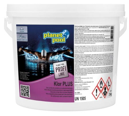 Planet Pool klor plus, 3 kg