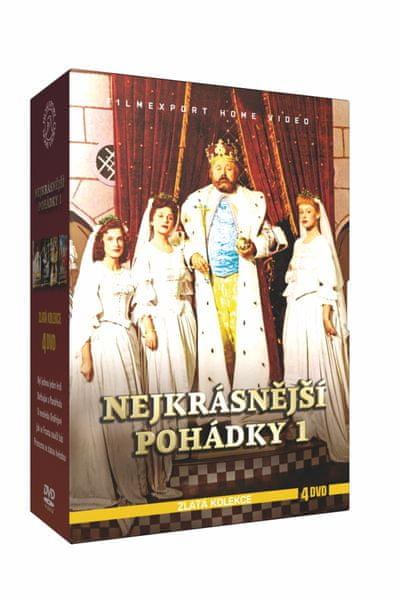 Kolekce Nejkrásnější pohádky 1. (4DVD) - DVD