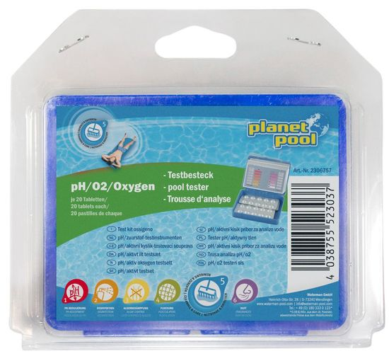 Planet Pool Pooltester - pH/O2, aktivni kisik (blister)