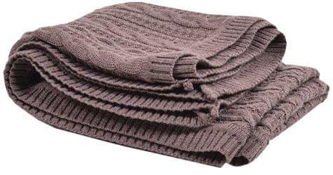 Monza Pletená deka Merino 120x80 cm, hnědá