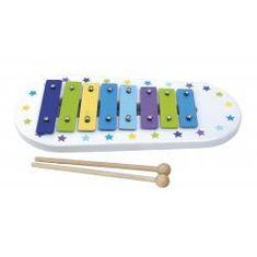Jabadabado Drewniany niebieski ksylofon cymbałki