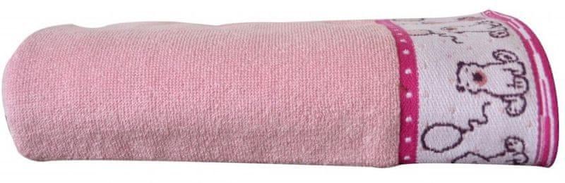Greno Dětská osuška Sweet Bear 70x125 cm, růžová