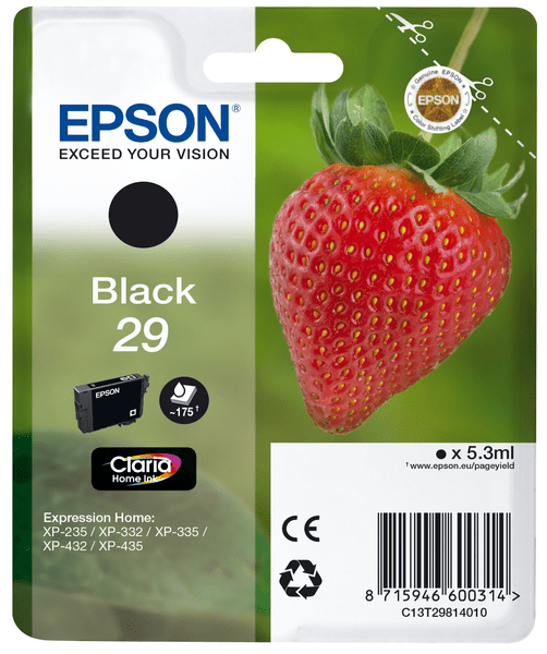Epson Singlepack Black 29 Claria Home (C13T29814010)