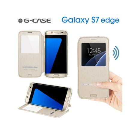 G-case preklopna torbica za Galaxy S7 Edge G935, zlata