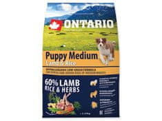 Ontario Puppy Medium Lamb & Rice 2,25kg