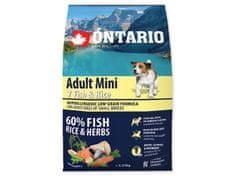 Ontario Adult Mini 7 Fish & Rice Kutyatáp, 2,25kg