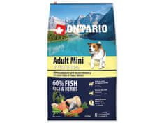 Ontario Adult Mini 7 Fish & Rice Kutyatáp, 6,5 kg