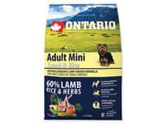 Ontario Adult Mini Lamb & Rice Kutyatáp, 2,25 kg
