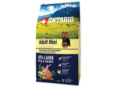 Ontario Adult Mini Lamb & Rice Kutyatáp, 6,5 kg