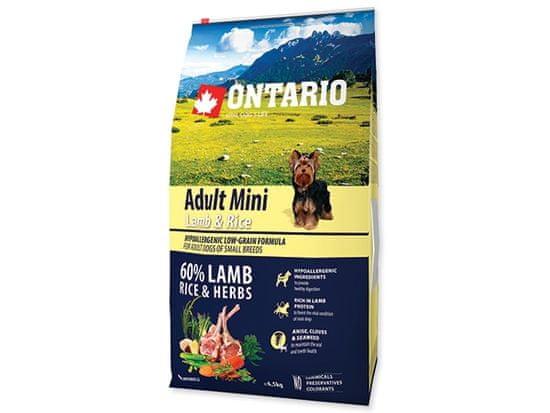 Ontario Adult Mini Lamb & Rice 6,5kg
