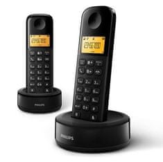 Philips brezžični DECT telefon Philips D1302B duo