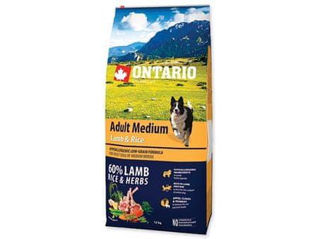 Ontario Adult Medium Lamb & Rice 12kg