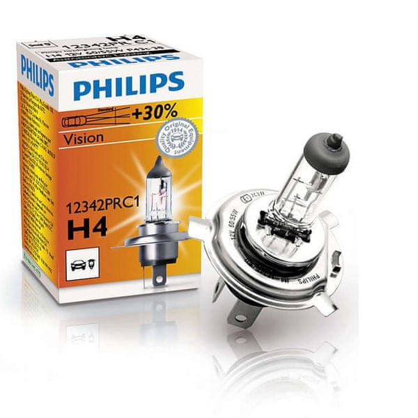 Philips Vision H4, 12 V, 60/55 W, 1 ks