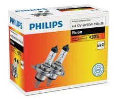 Philips Vision H4, 12 V, 60/55 W, 2 ks
