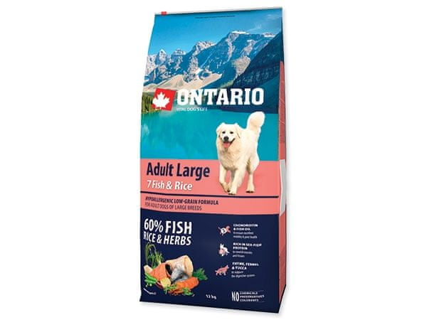 Ontario Adult Large 7 Fish & Rice 12kg