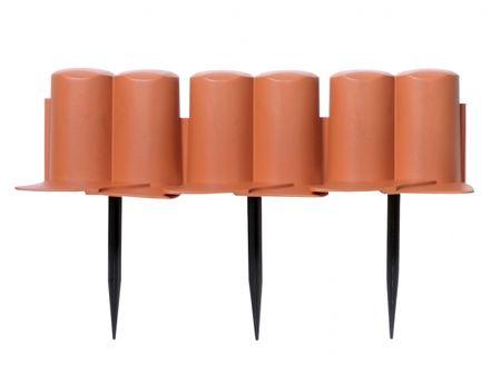 NOHEL GARDEN Palisáda-obruba plastová terakota 3x0,1m 8ks