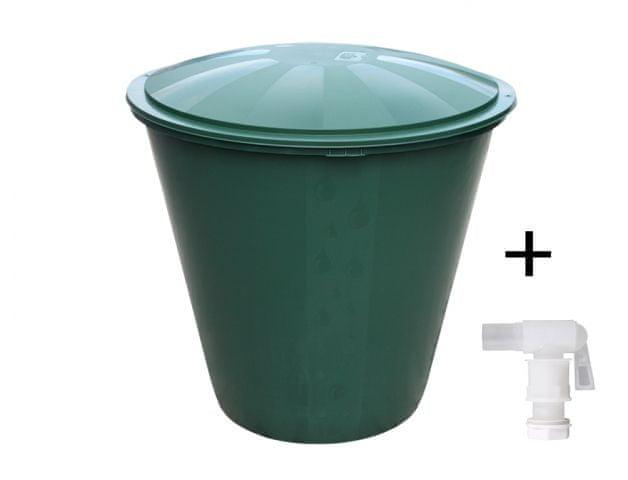 NOHEL GARDEN Barel s ventilem a víkem plastový zelený 210l
