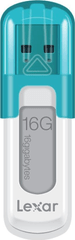 Lexar JumpDrive V10 16GB / USB 2.0 / White-Blue (LJDV10-16GABEU)