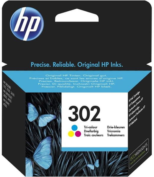 HP náplň č.302 - Barevná (F6U65AE)